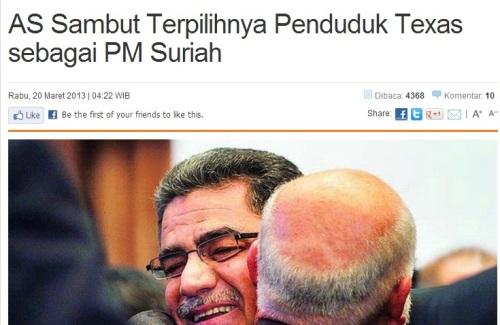 PM Suriah Ala Amerika